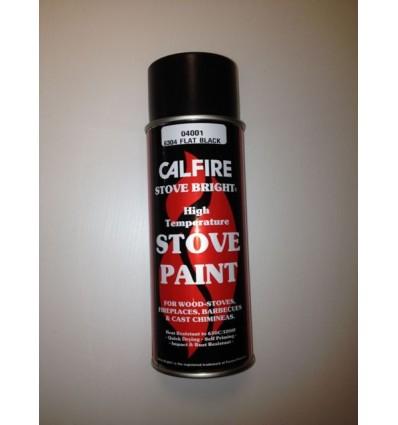 Calfire Stove Paint Aerosol 400ml Flat Black